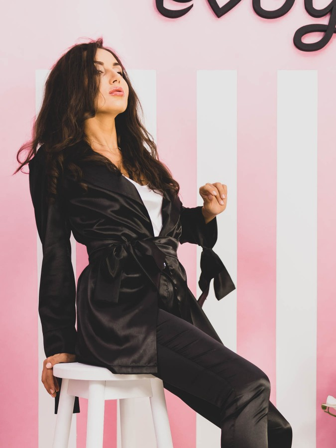 Compleu Elegant cu 3 piese Miss Black