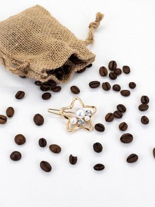 Agrafa pentru par cu cristale si perle Estrella