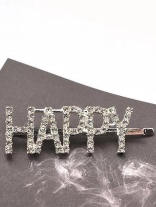 Agrafa pentru par Cristals HAPPY