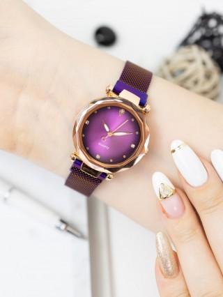 Ceas cu bratara magnetica Evog Gradient Purple