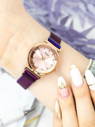 Ceas cu bratara magnetica Disu Purple V White