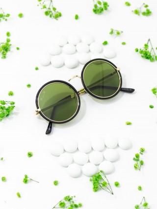 Ochelari de soare Matteo Ferari Cercle Black V Green