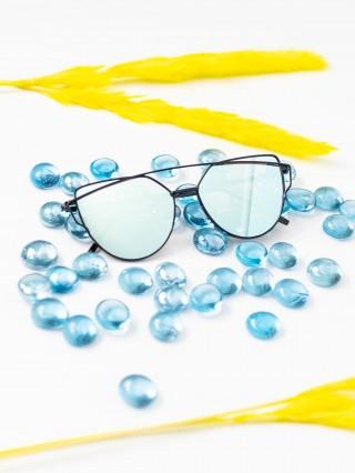Ochelari de soare Cat Eye Mirror Light Blue