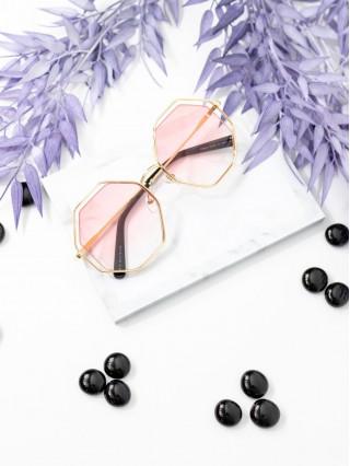 Ochelari de soare Hexagonal Pink