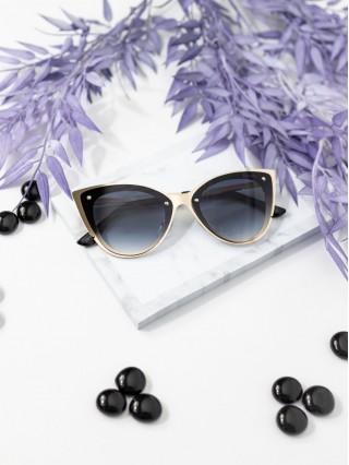 Ochelari de soare Cat Eye Ave Gold V Black