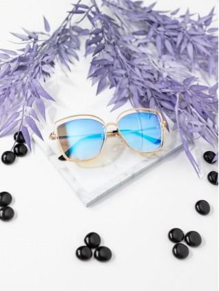 Ochelari de soare Oversized Lariss Blue Mirror