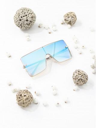 Ochelari de soare Oversized Peru Mirror Blue