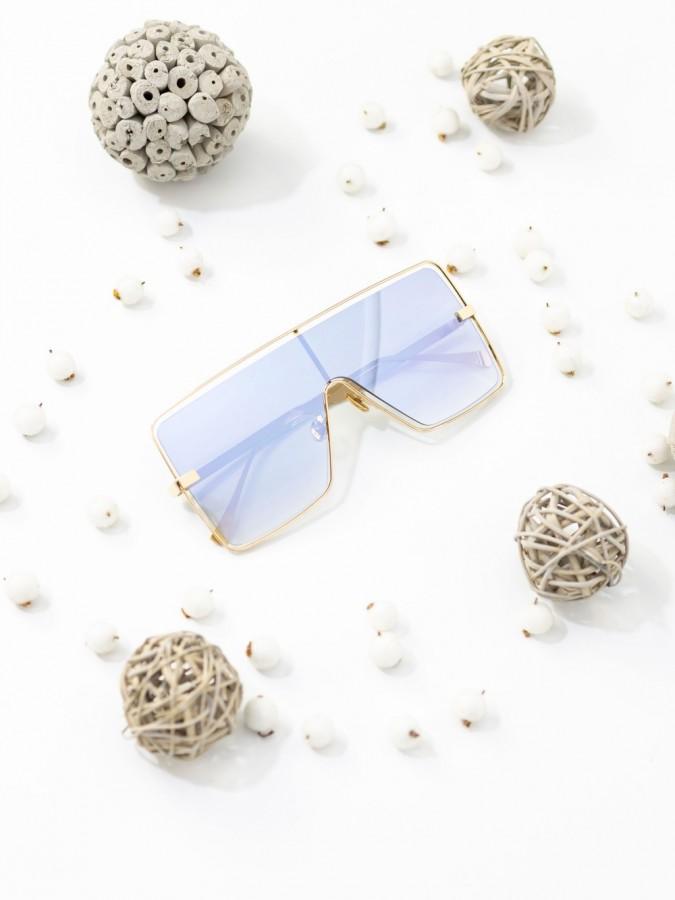 Ochelari de soare Oversized Peru Mirror Light Blue