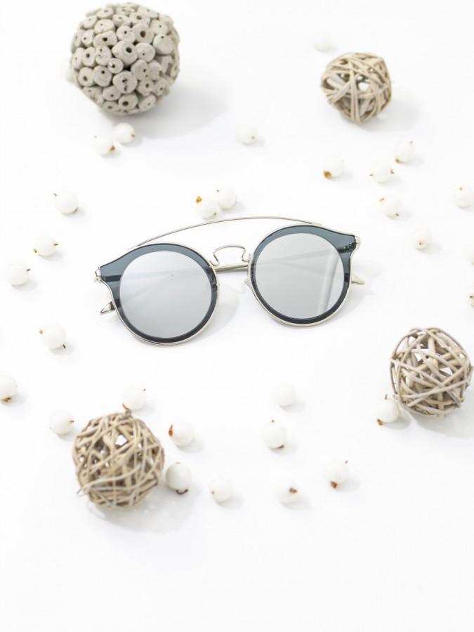 Ochelari de soare Cat Eye Korre Silver Mirror