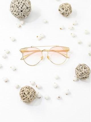 Ochelari de soare Cat Eye Pink Transparent
