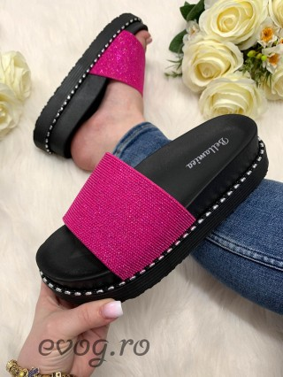 Papuci Glitter Fuchsia
