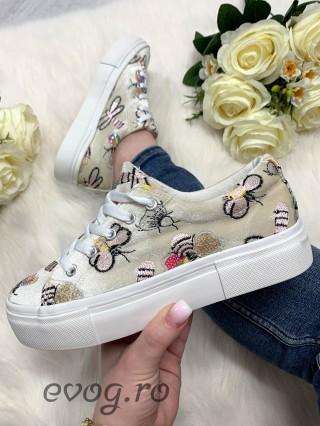 Sneakers Buble Velvet Cream