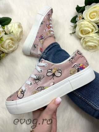 Sneakers Buble Velvet Pink