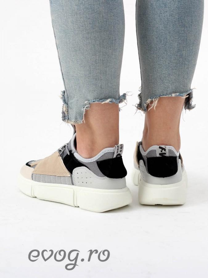 Sneakers Evog Grey V Beige