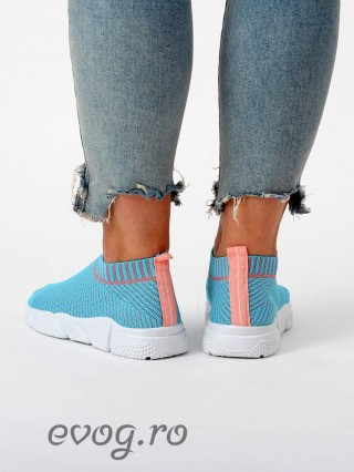 High Sneakers Balencia Stripes Blue V Grey