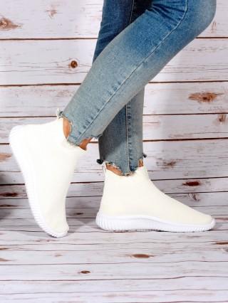 High Top Sneakers Balencia White