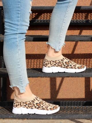 Low Top Sneakers Balencia Leopardo