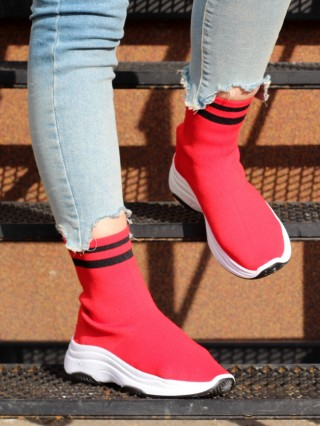 High Top Sneakers Elentine Red