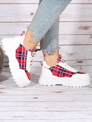 Sneakers Berry White/Red
