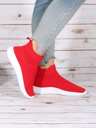 High Top Sneakers Balencia Red