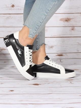 Sneakers Crown Black/White