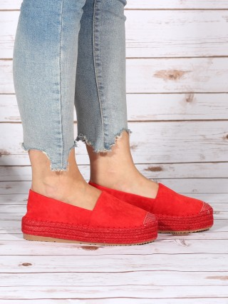 Espadrile cu platforma Vintage Red 2