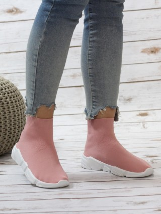 High Top Sneakers Balencia Pink