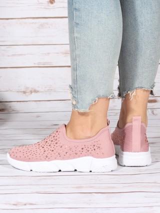 Low Top Sneakers Balencia Diamonds Pink