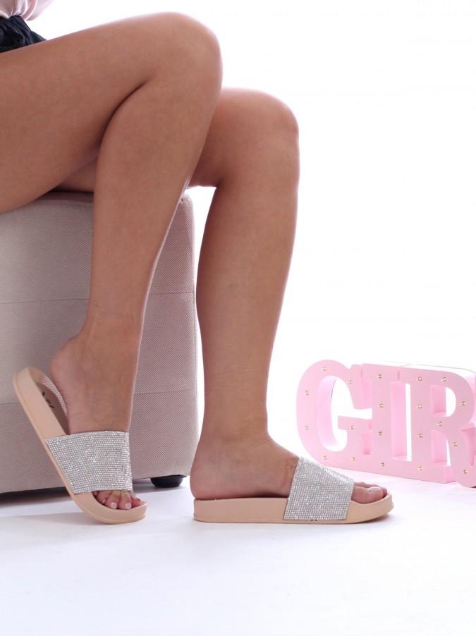 Papuci Glitter Cream