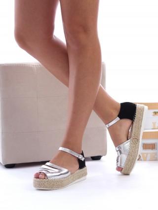 Sandale cu platforma medie Ciara Silver