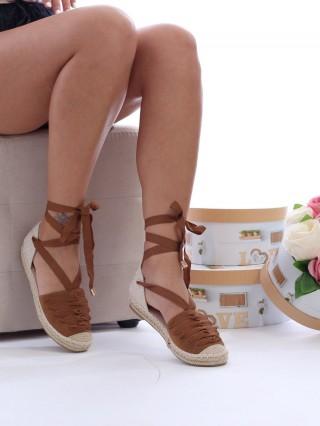 Sandale cu talpa joasa Comfy CAMEL