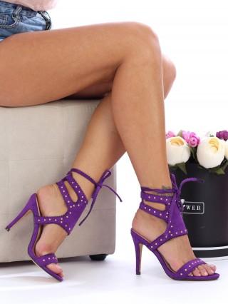 Sandale cu toc Estrella Purple