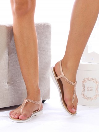 Sandale cu talpa joasa Diana PINK