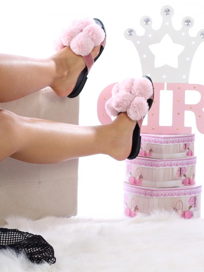 Papuci Balls Pink