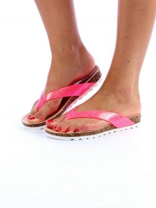 Papuci Shine Pink