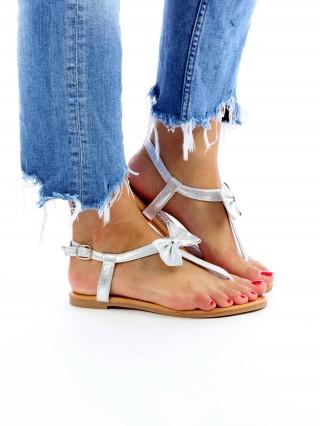 Sandale cu talpa joasa Blossom Silver