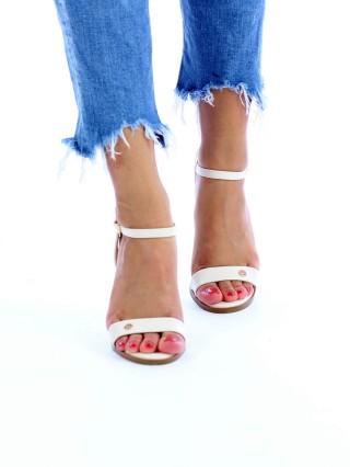 Sandale cu toc Chic Diva Beige