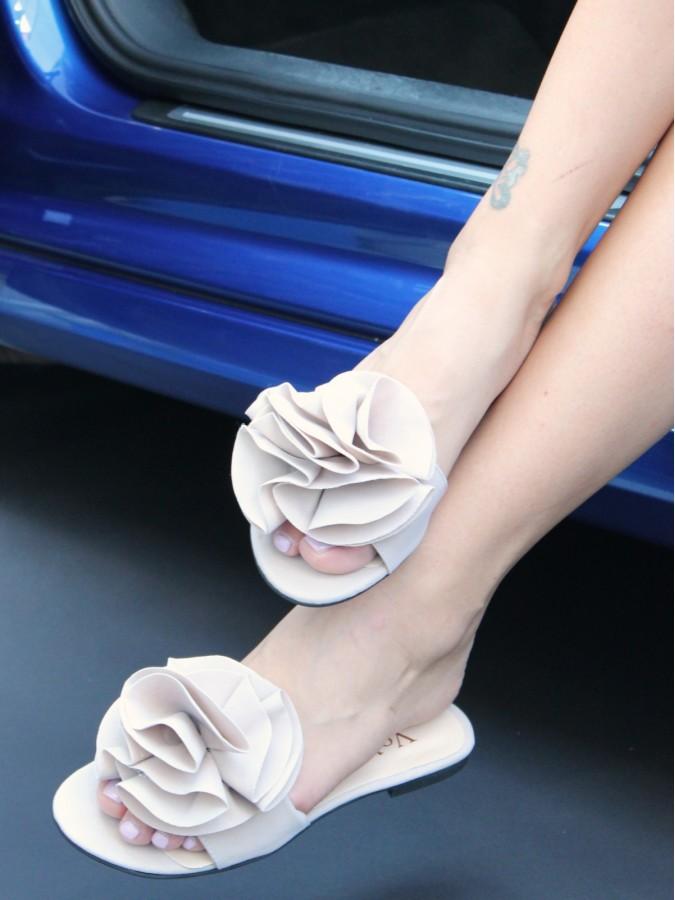 Papuci Fleur Cream