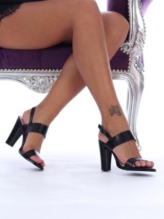 Sandale cu toc Britney Black