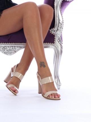 Sandale cu toc Britney Apricot