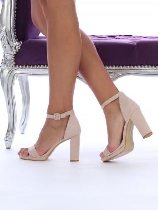 Sandale cu toc gros Bellezza BEIGE