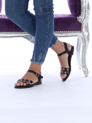 Sandale cu talpa joasa Vivienne Black