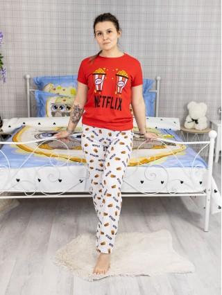 Pijama dama din Bumbac cu 2 piese cod PDD199
