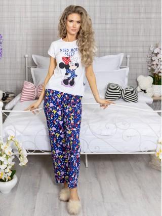 Pijama dama din Bumbac cu 2 piese cod PDD180